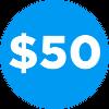 Dollar blue 50 100